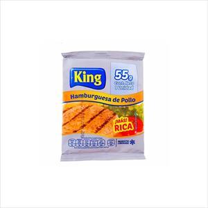 HAMBURGUESA KING POLLO 55G