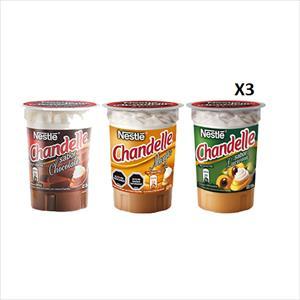POSTRE CHANDELLE PACK X3 UN