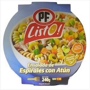 ENSALADA DE ESPIRALES CON ATUN PK LISTO 240G